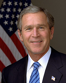 030114-O-0000D-001.President George W. Bush.  Photo by Eric Draper, White House.